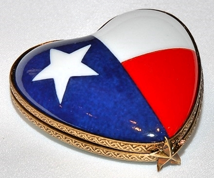 Texas Heart Limoges Box