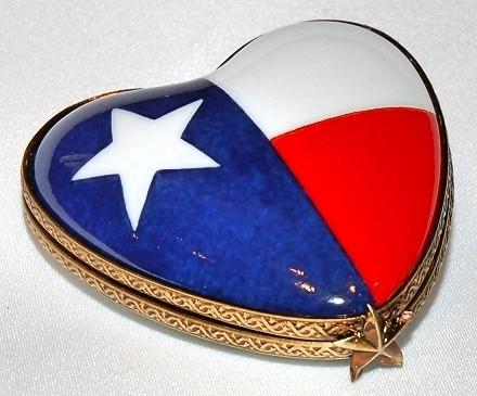 Texas Heart Limoges Box