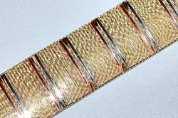 #660 14k Tri Gold Italian Bracelet