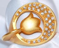 #407 22k FIBULA .39ct Diamond ring