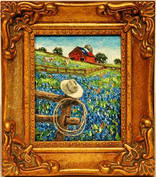 """Bluebonnets with Hat & Lasso"""