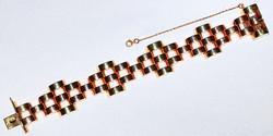 #827  Retro Rose & Green Gold Bracelet W