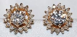 #743 14k Diamond 1.55cts Studs