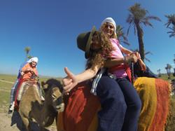 Camel ride at Nkhila Camp