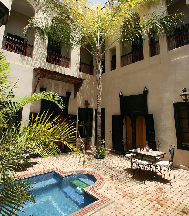 Riad Africa courtyard pool