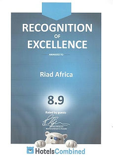 Hotels Combined Award for Riad Africa
