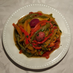 Moroccan salad with peppers
