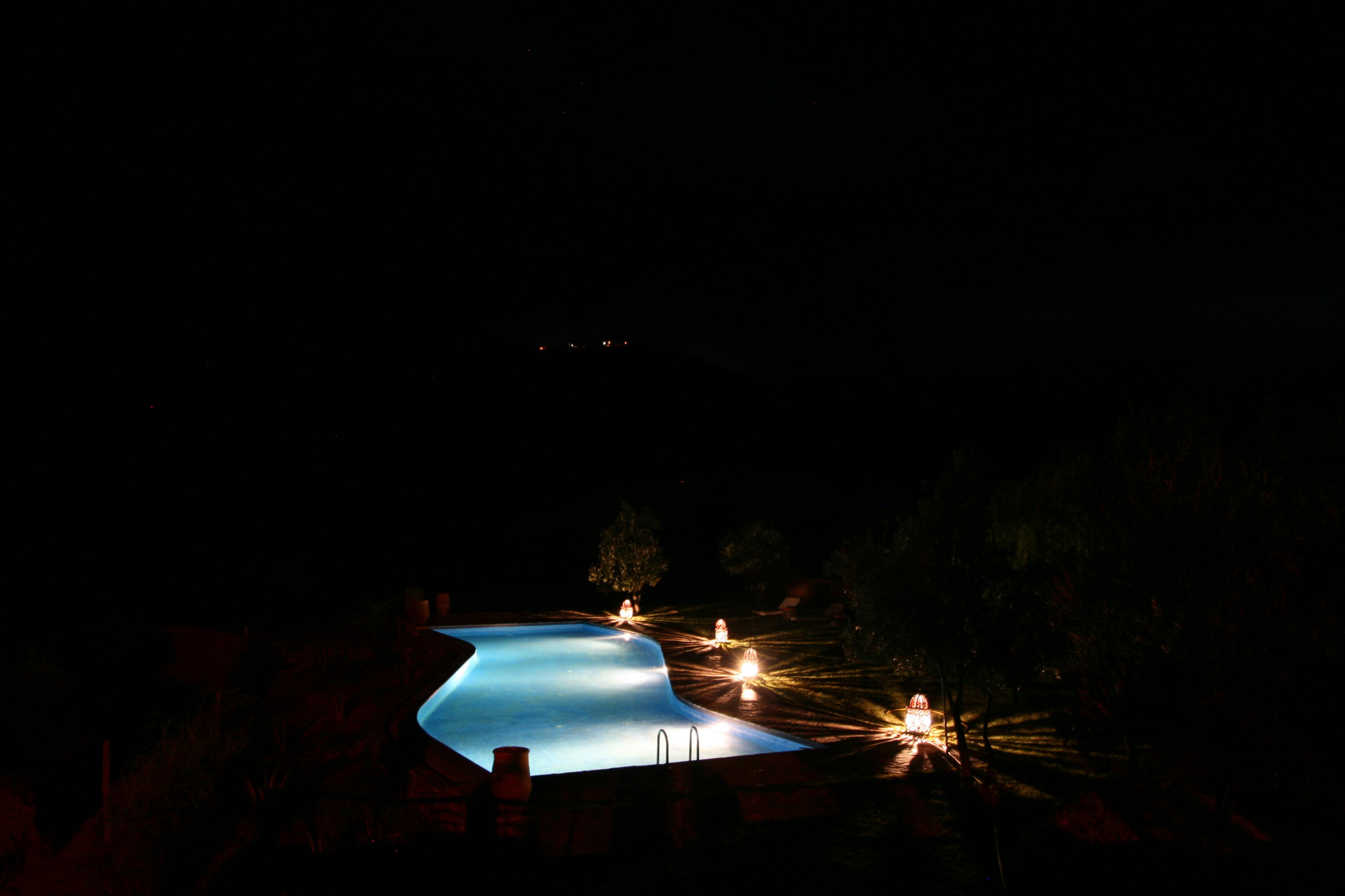 Kasbah Africa Pool In The Dark