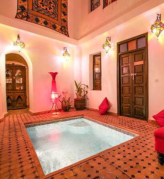 Riad Africa heated pool