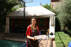 Chef and hostess, Fatim-Zahra