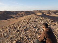 Desert walk at Nkhila Camp