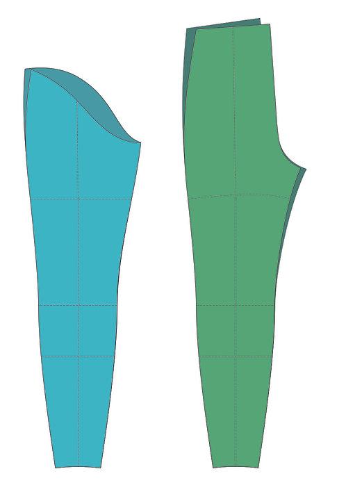 Women's 8% Leg Blocks -CAD