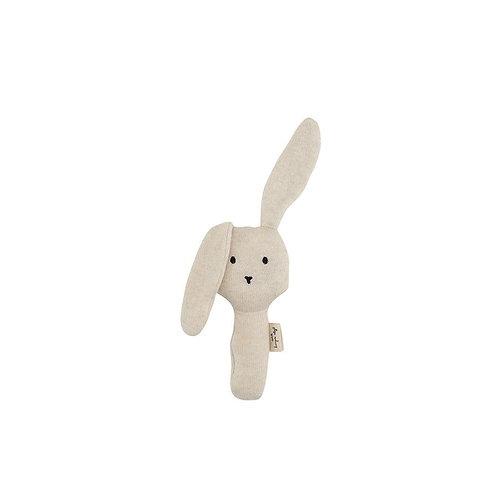 """Konges Sløjd Babyrassel Hase """"Rabbit Off White Melange"""""""