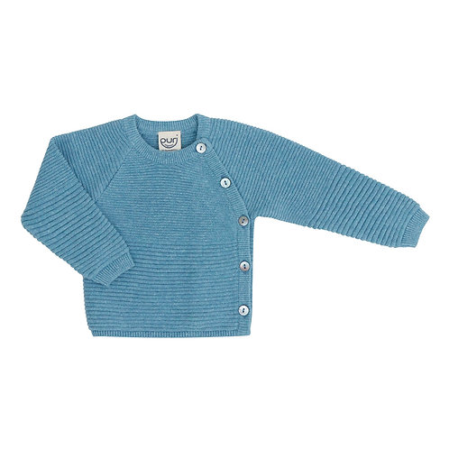 Puri Organic Bio Baby Kimono Baumwolle Leinen bristal blau