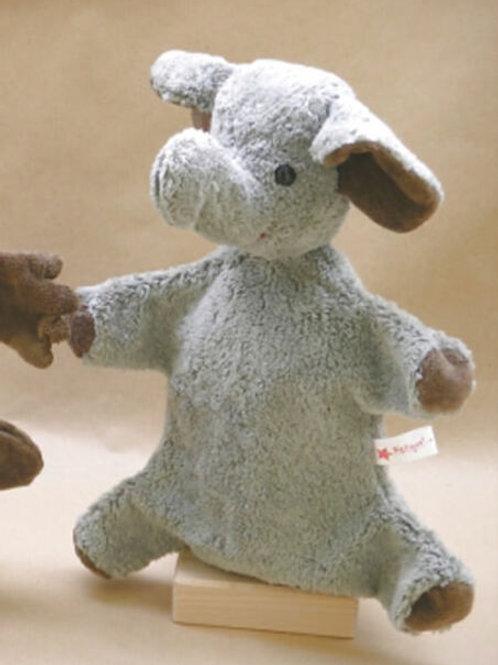 Kallisto Handpuppe Elefant grau vegan