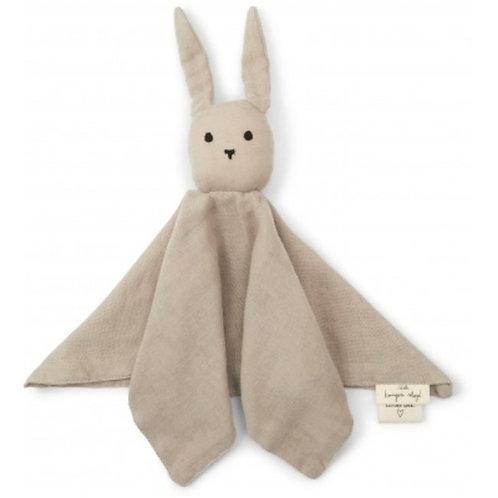 "Konges Sløjd Schmusetuch Sleeping rabbit ""dark clay"""