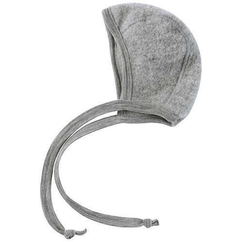 Babymütze Baby-Häubchen Schurwolle grau