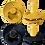 Thumbnail: BIBS Schnuller mustard & dark denim Naturkautschuk 2er Pack