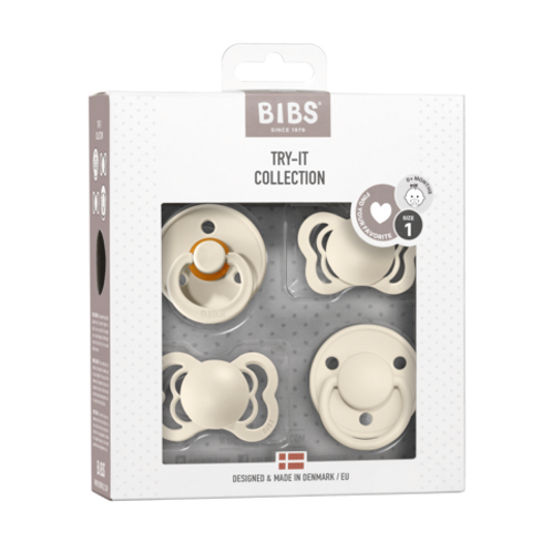 """BIBS Schnuller """"Try-it collection"""" 4er-Pack ivory"""