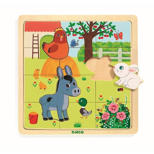 djeco Holz Puzzle Bauernhof