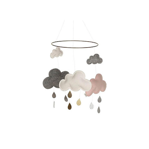 "Konges Sløjd Baby Wolken Mobile ""Cloud Pinkberry"""