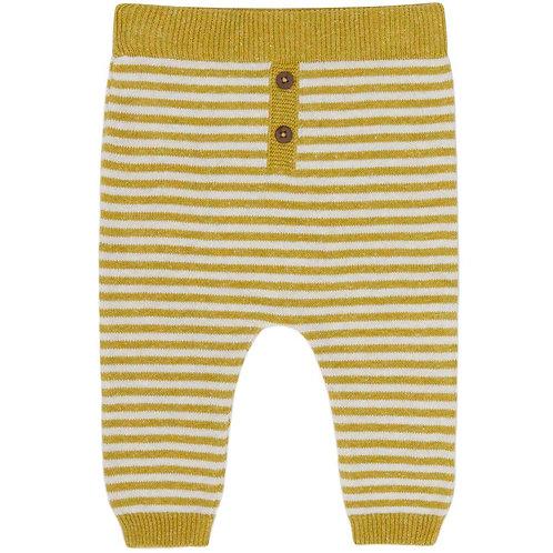Puri Organic Bio Baby Strickhose Baumwolle Leinen senfgelb ecru