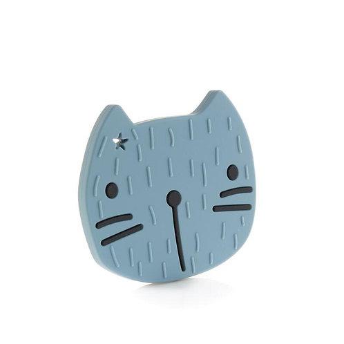 Beißfigur Tier Silikon Pippa die Katze smokey blue