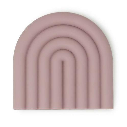 Mushie Beißfigur Teether Rainbow mauve