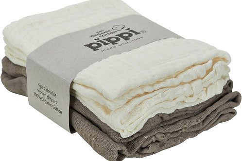 "pippi Musselintücher Mullwindeln Swaddles organic cotton ""cinder"""