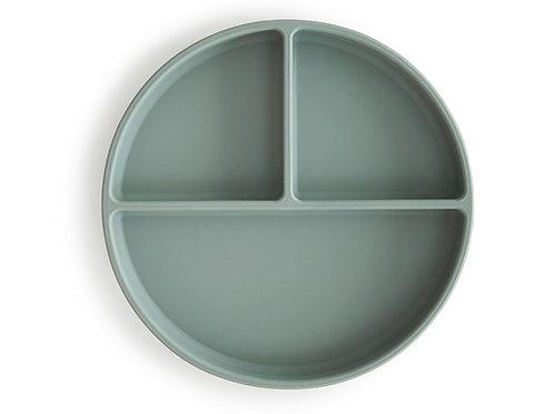 Mushie Silikon Teller mit Saugnapf cambridge blue