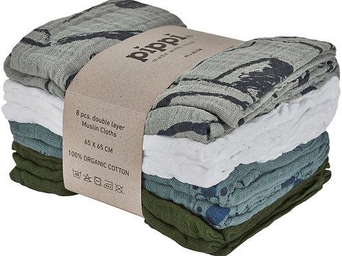 pippi Musselintücher Mullwindeln Swaddles organic cotton