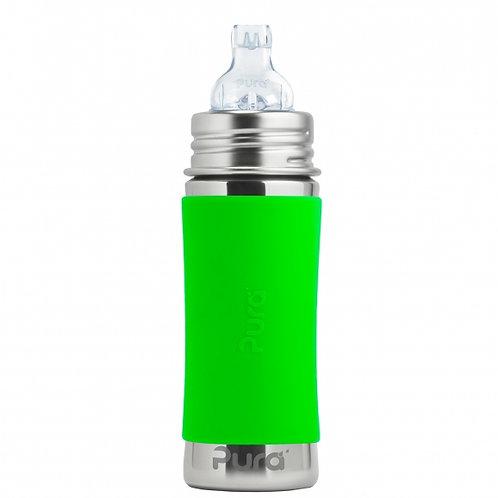 Pura Kiki 325 ml Trinklernflasche Trinkaufsatz grün
