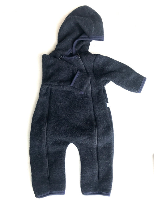 iobio Baby-Overall Wollfleece dunkelblau
