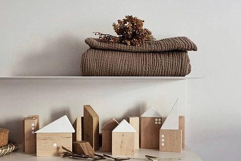 Pinch Toys Wooden City Bausteine Holzklötze natur
