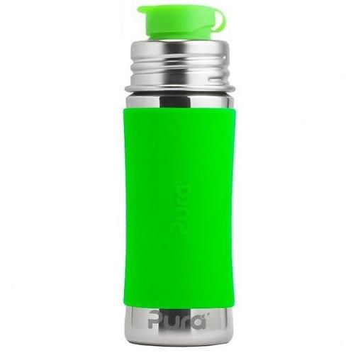 Pura Kiki 325 ml Trinkflasche mit Sportaufsatz grün