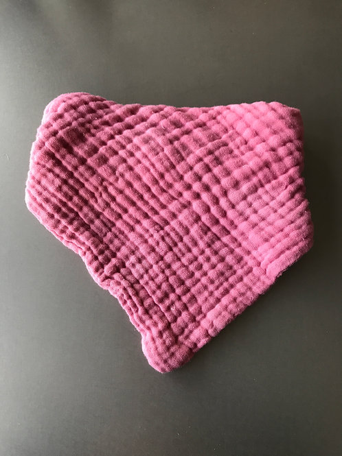 Kinder Halstuch Dreieckstuch  * 6lagiger Mullstoff pink