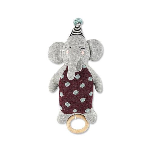 ava and yves Strick Spieluhr Elefant mit Hut