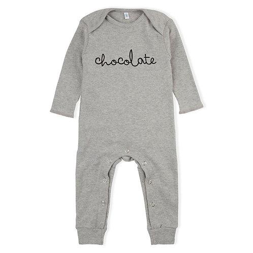 "Organic Zoo Strampler ""Chocolate"" grau melange"