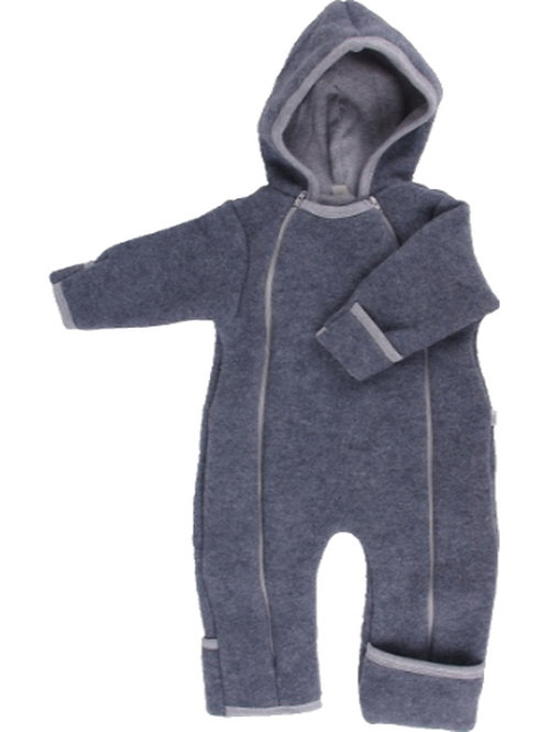 iobio Baby-Overall Wollfleece anthrazit grau