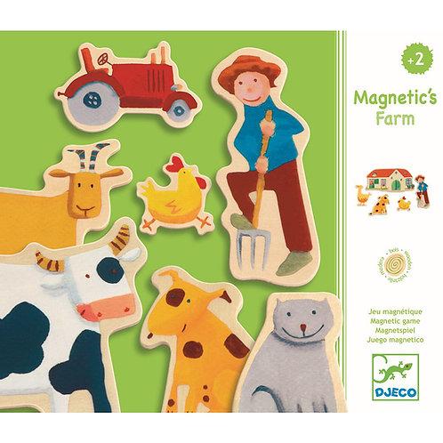 djeco Magnetspiel Bauernhof Tiere