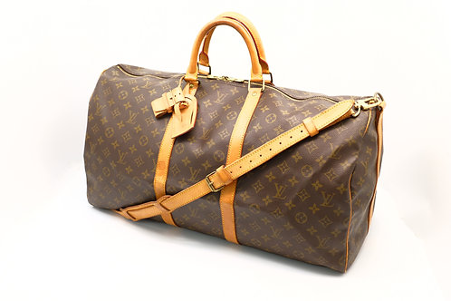 buy preloved authentic Louis Vuitton Keepall 55 Bandouliere