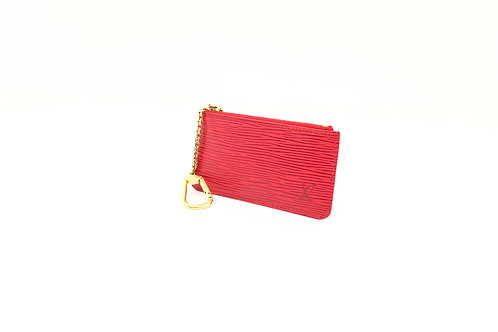 Louis Vuitton Cles in Epi Red
