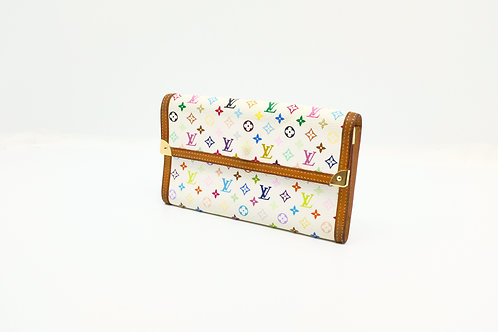 Louis Vuitton Multicolor White International Wallet