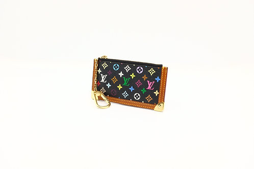 Louis Vuitton Black Multicolore Pochette Cles