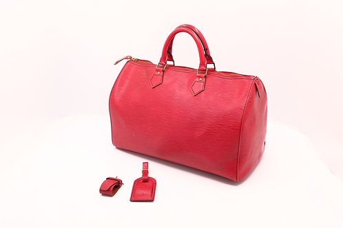 Louis Vuitton Vintage Speedy 35 Epi Red