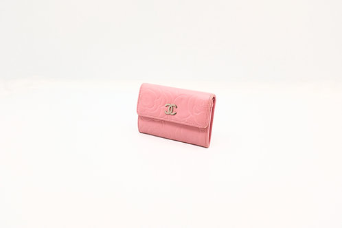 Chanel Pink Floral Card Case