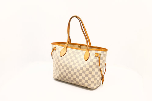 Louis Vuitton Neverfull PM in Damier Azur Canvas