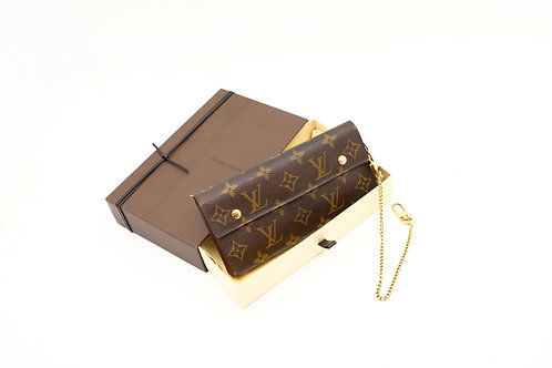 Louis Vuitton Accordion Long Wallet with Chain