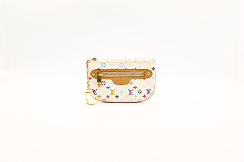 buy preloved Louis Vuitton Limited Edition Multicolor White Pochette Plate MM