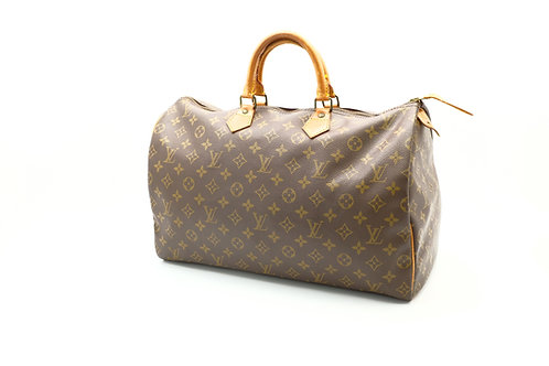Louis Vuitton Vintage Speedy 40 w/ Lock Set and Dust Cover